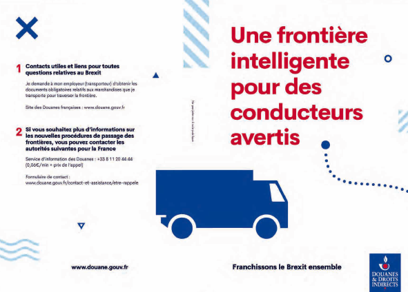 BREXIT - dépliant formalités douanières
